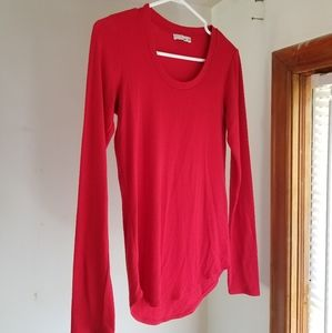 Red Knit Wilfred Long Sleeve Top